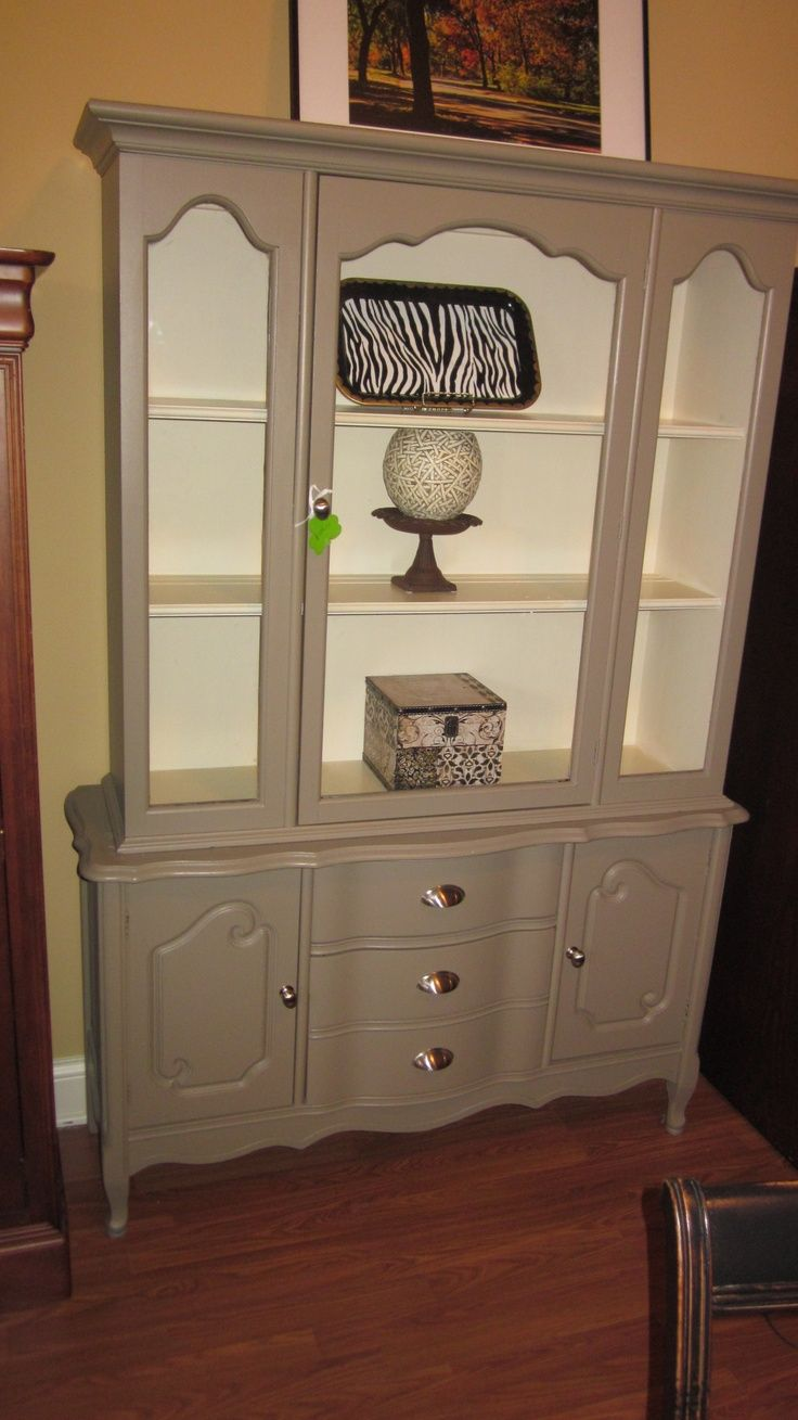 Painted Grey China Cabinet 250