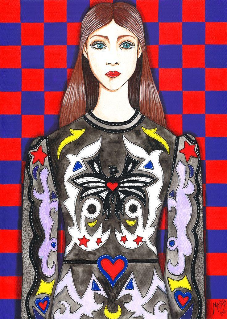 Batwoman acrylic on canvas 42x29,5 cm 2016