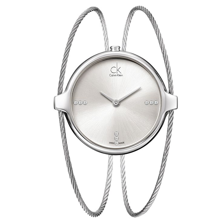 Calvin Klein Women's 'Agile' Swiss Quartz Watch with Diamond Markers