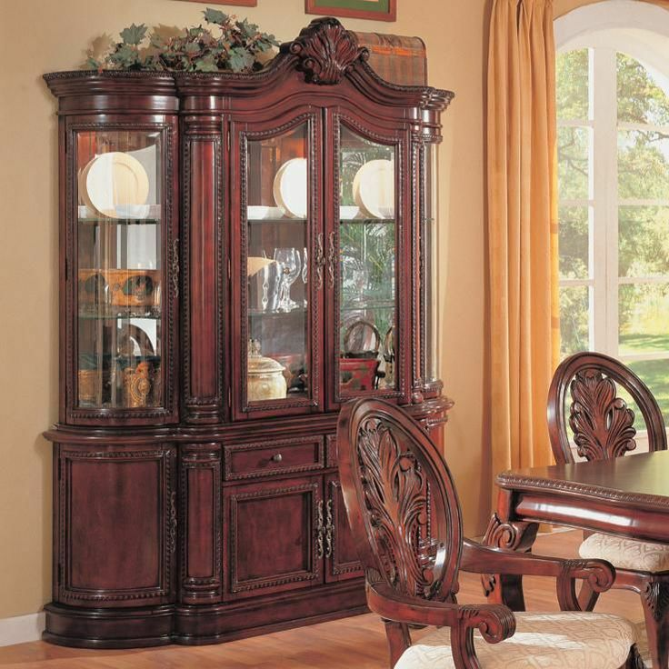 coaster tabitha traditional china cabinet in cherry | bedroom set