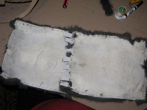 rabbit hide tanning & sewing