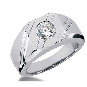 1.00 Karat Herren- Diamantring aus 585er Weißgold