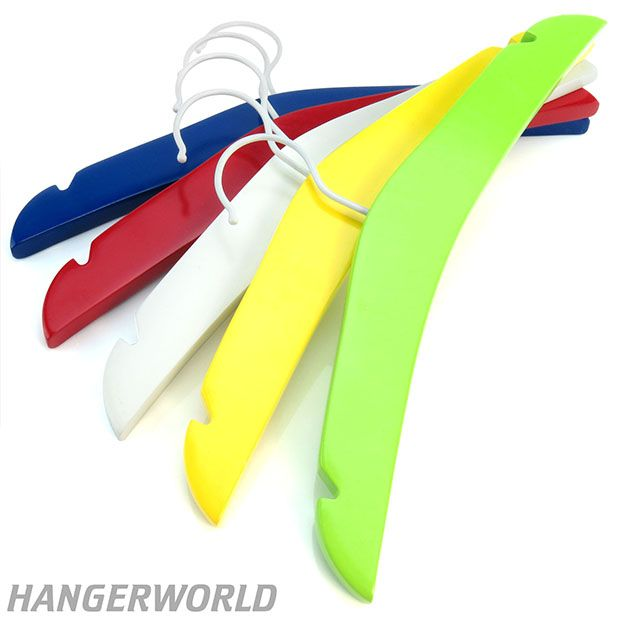 Mixed Colour Wooden Children's Top Hangers - 30cm