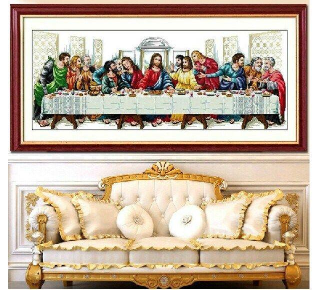 Напечатаны наборы для вышивания крестиком тайная вечеря иисус христос религия с инструментами темы иглы Diy хлопок шелк нить, принадлежащий категории Швейные наборы и относящийся к Для дома и сада на сайте AliExpress.com | Alibaba Group