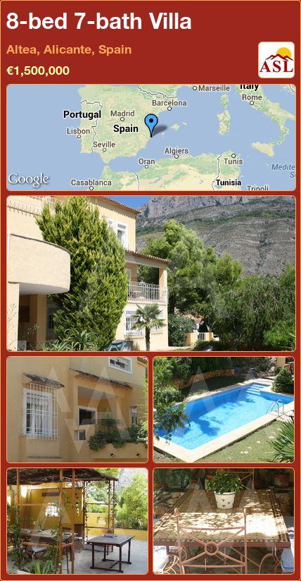 8-bed 7-bath Villa in Altea, Alicante, Spain ►€1,500,000 #PropertyForSaleInSpain
