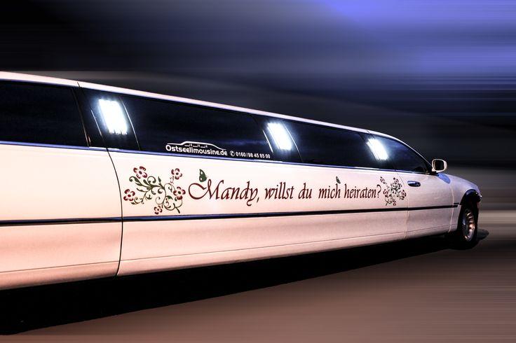 Aussergewöhnliche Liebeserklärung Heiratsantrag auf http://www.ostseelimousine.de