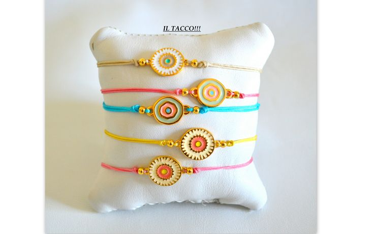 Bracelets, summer colours, enamel, beads, cords!!! Il Tacco!!!