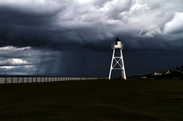 Sunny Silloth Lighthouse.