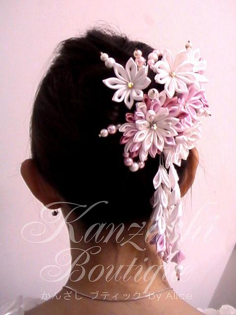 Kanzashi for Wedding by Kanzashi.Boutique, via Flickr
