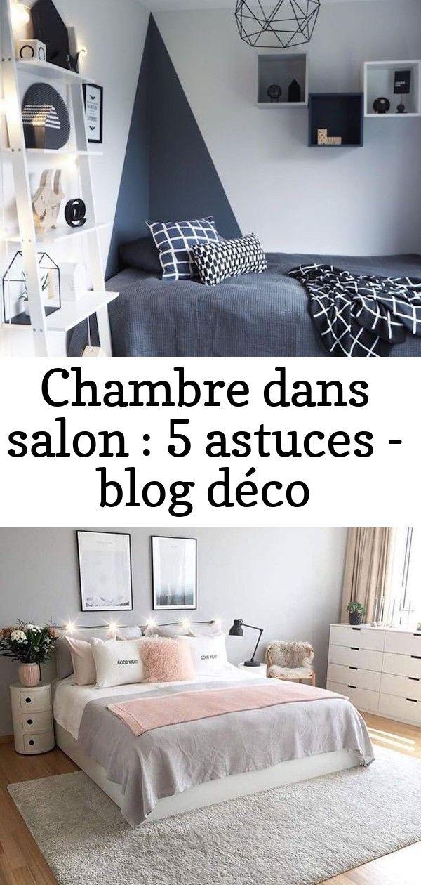 Chambre Dans Salon Decoration Bleu Marine Lit Les Meilleures Idees