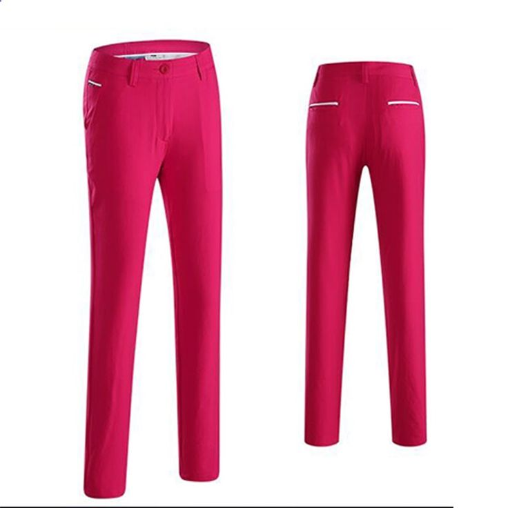 New Arrival Lady Golf Pants Spring Summer Quick Dry Golf Long Trousers Full Length Pants Slim Sports Pants
