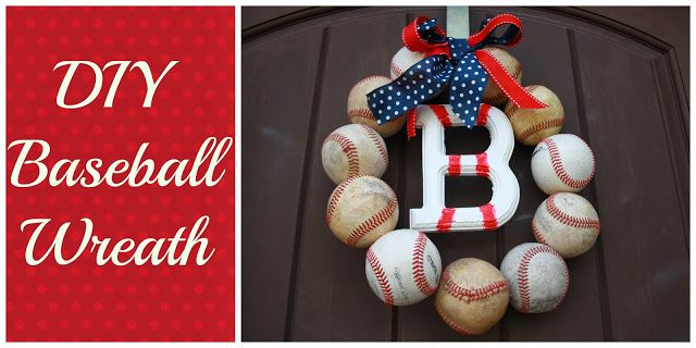DIY Baseball Wreath Baseball Party Ideas