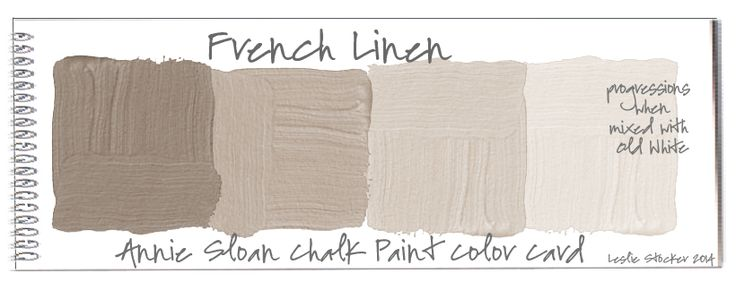 "Annie Sloan ""French Linen"" Colorways: Color Swatches"