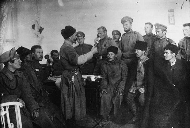 Представители корниловской Дикой дивизии договариваются о перемирии в центре — урядник Татарского полка Хаджи-Мурат Дзарахохов