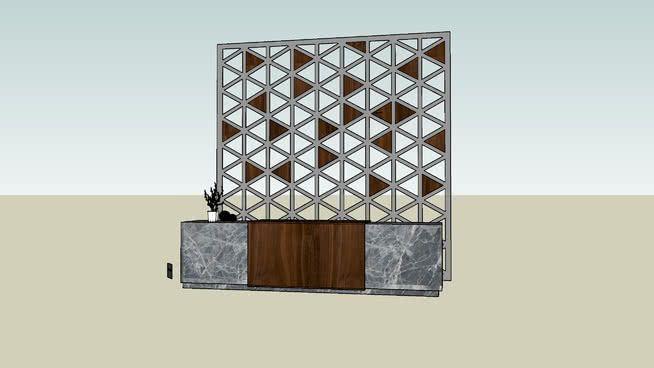 Reception Desk 3d Warehouse Com Imagens 3d Warehouse