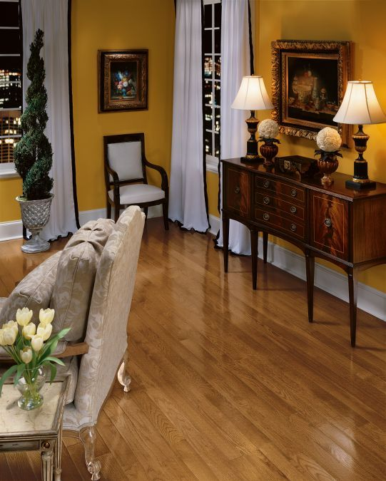 Hardwood Flooring by Bruce: Oak - Gunstock.  Warm colors and classic style suite any interior.