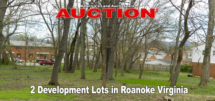 Virginia Development Land Auction Roanoke Virginia has been schedule for 2 adjacent building lots, each .19+/- acres in Roanoke, Roanoke County, Virginia. Convenient to I-581, these development lots are within walking distance of restaurants, shopping and schools. Zoned RM-1 this land is capable of multi-family development. These two land lots bought in combination offer a total of .38+/- acre and would be a great investment in to future development.  Contact Auctioneers…