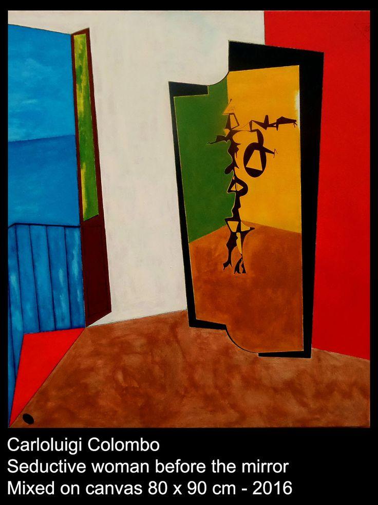 painting, art, mirror, italian, acrylic, riolo terme, faenza, esorinism, esoteric art, dubai, ferrara, firenze
