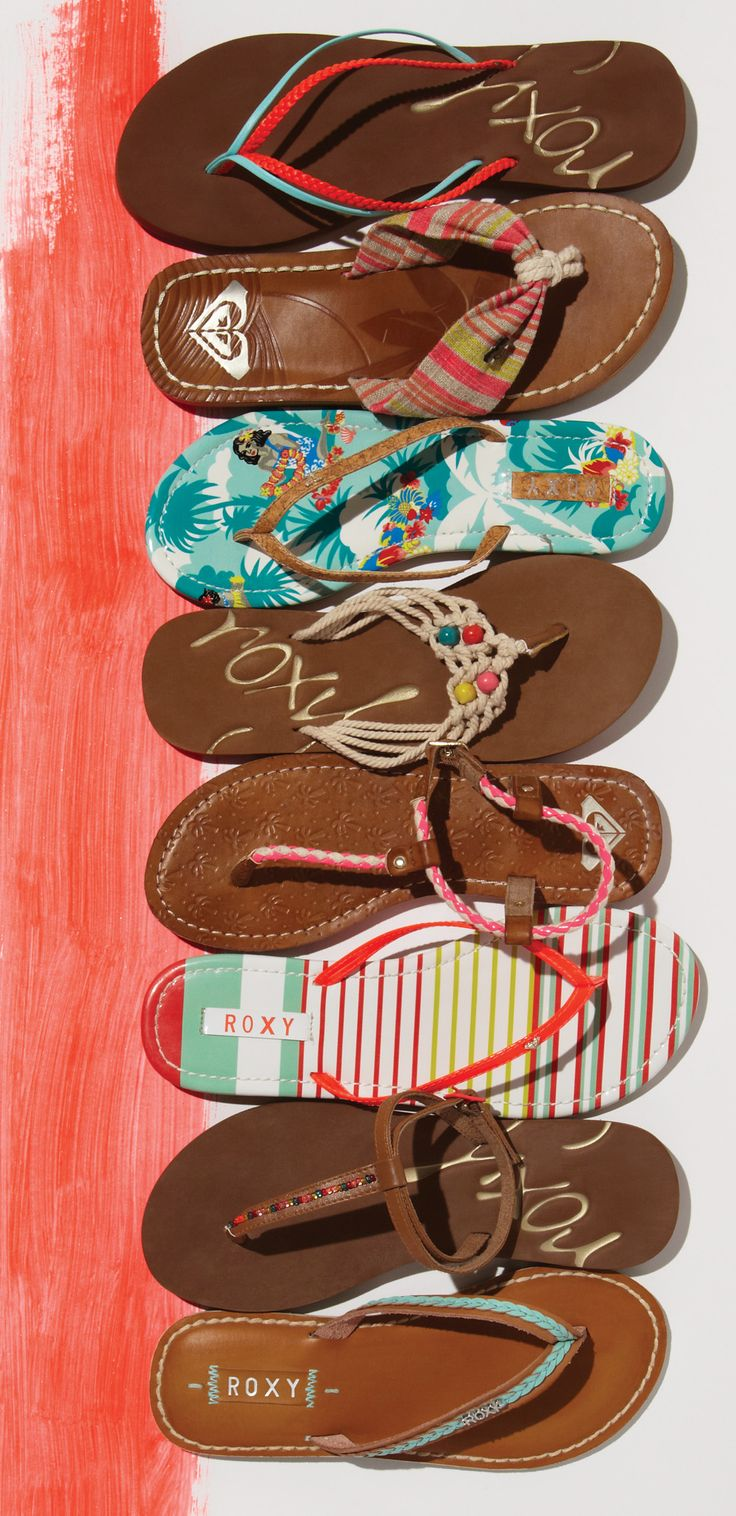 Which Summer #ROXYsandals would you choose? I like the ones at the bottom