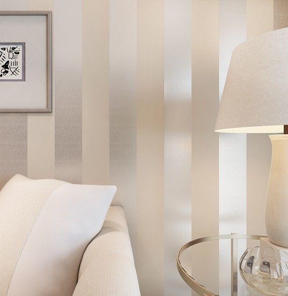 متعهد تركيب ديكور ورق جدران ثري دي في لبنان للتواصل 0096171170181 ورق جدران موردن غرف نوم محل Stripe Wallpaper Bedroom Striped Walls Living Room Home Wallpaper