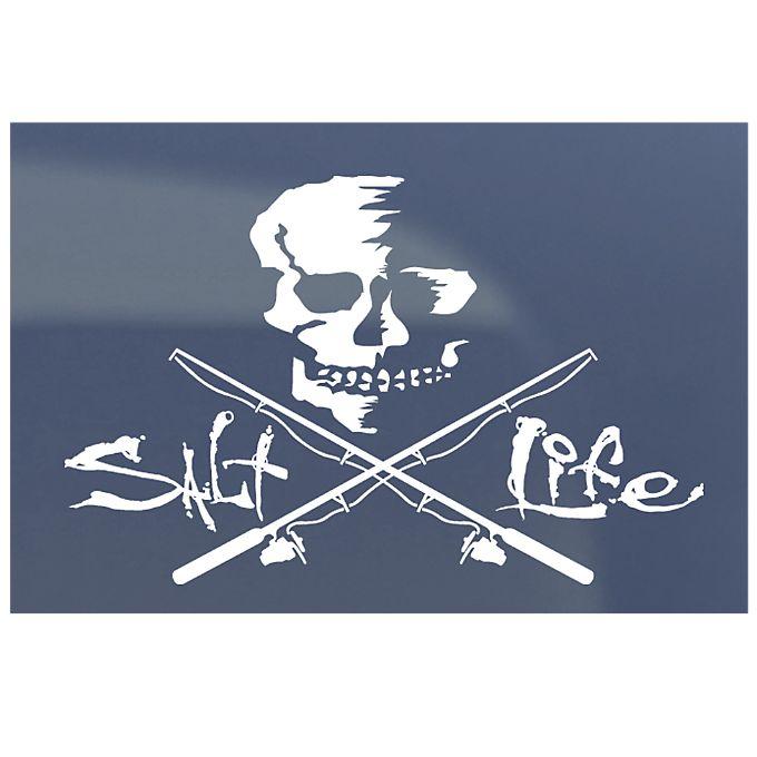 Skull on the salt life sticker