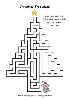 Christmas maze star top