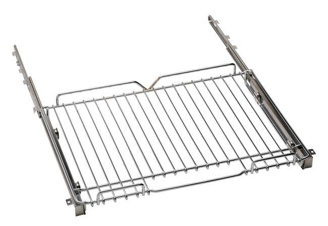 "Telescopic glide shelf kit, suitable for all 48"" - main oven - and 30"" ranges. Finishing, chrome"