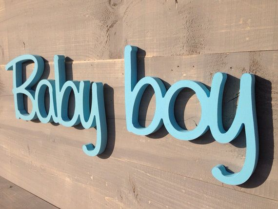 New Baby wood sign for Wreath BABY BOY pregnancy reveal by SunFla, $52.00