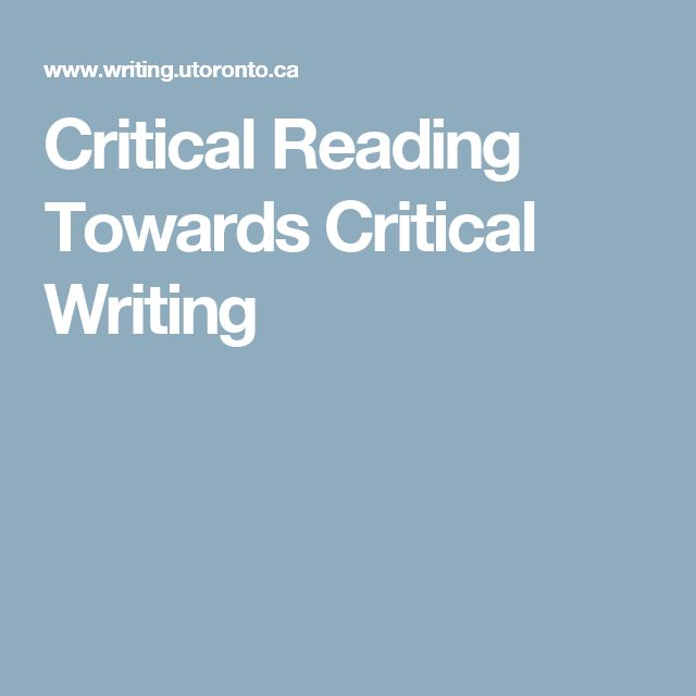 Critical reading essay