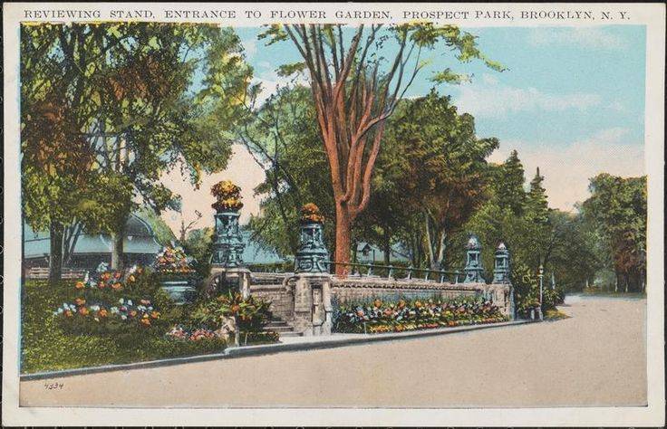 Reviewing Stand, Entrance to Flower Garden, Prospect Park, Brooklyn, N. Y.