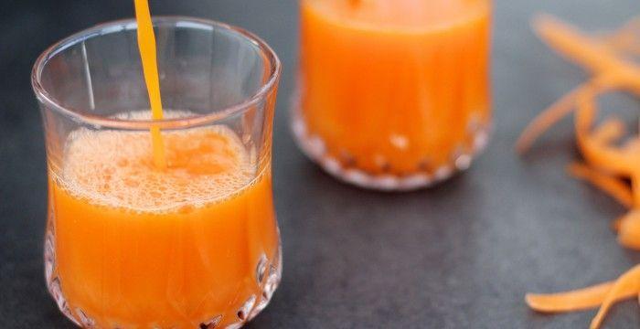 Gulerodsjuice med appelsin og rød grape