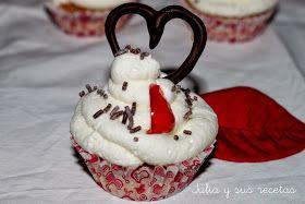 JULIA Y SUS RECETAS: CUPCAKES DE ALMENDRA (Aptos para celiacos) Especial día de los enamorados