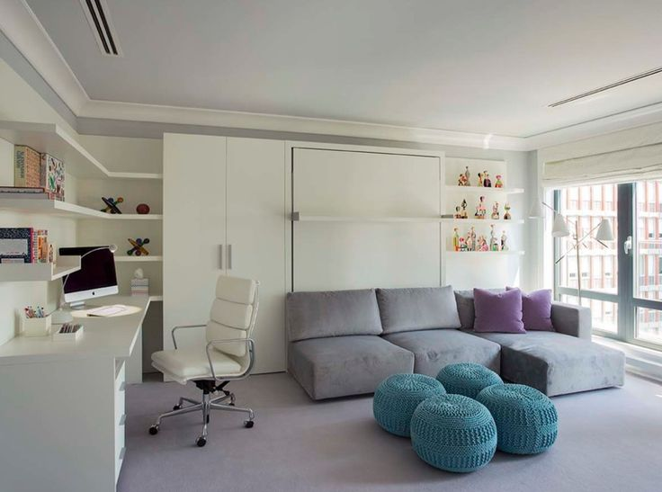 Home? Office? Home Office? We love the subtle use of color in the decor!  http://www.manhattanhomedesign.com/eames-aluminum-group-softpad-executive-office-chair.html #officedecor #homedecor #homeofficeideas  #interiordesign #midcentury #homedecor