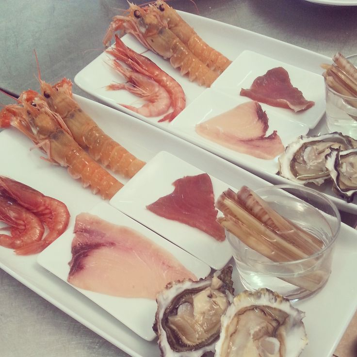 raw seafood for two