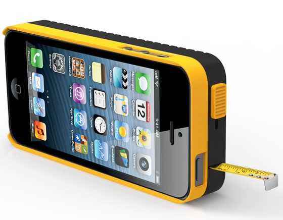 DeWalt iPhone 5 Case with tape measure by Psychic Factory. / #concept