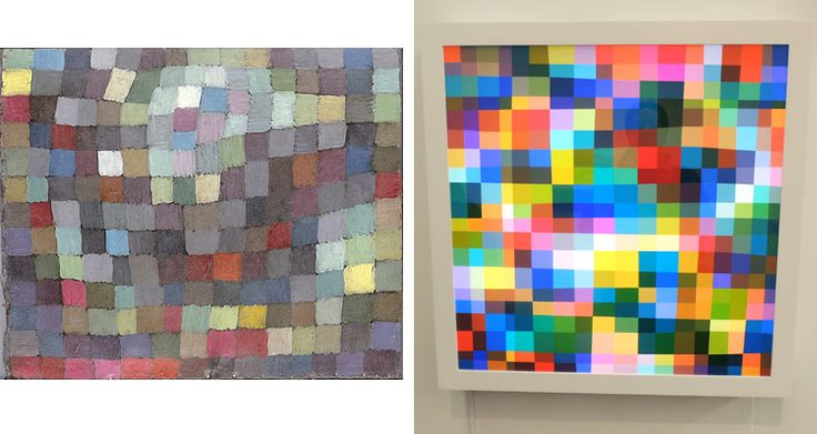 An interesting idea to present to your students - if famous modern artists were alive and working in the 21st Century, how might their work be different?  At left we have Paul Klee, and at right we have Spencer Finch.