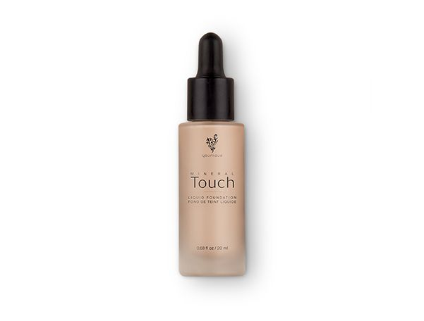 Touch Mineral Liquid Foundation This smooth foundation goes on liquid and dries to a soft, powdery finish while optical diffusers blur imperfections and minimize wrinkles and pores. No touch-ups necessary. Each shade is also available as a corresponding Touch Mineral Concealer, Pressed Powder, and Cream Foundation.