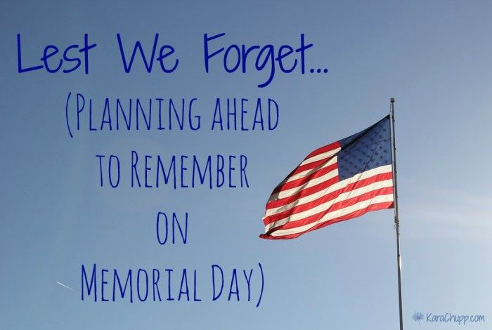 memorial day lesson plans