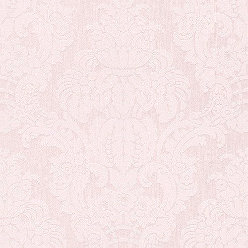 Elegance at its finest! This traditional damask is rich and luxurious with an intricate floral motif. The overall blush tones of this damask have great tone-on-tone value and can add just the right amount of classic coziness into any bedroom | Lilac Grandiose Damask Wallpaper R3219