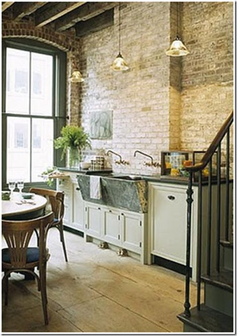 Old Laundry Tubs by Feather & Nest  Love this use of old concrete laundry tubs in the kitchen.