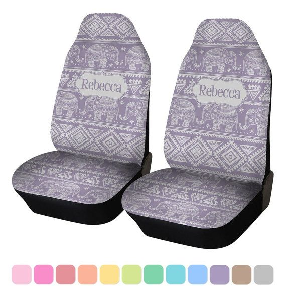 Baby Elephant Custom Car Seat Covers Set of Two by RNKShops