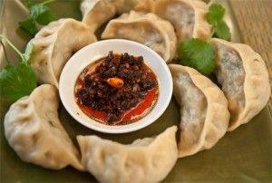 momos, tibetan dumpling. recipe for both beef and vegetable filling