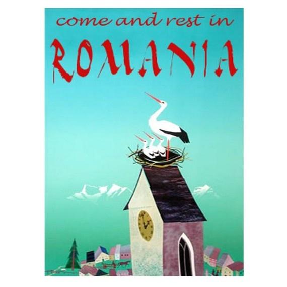 Retro Romania poster