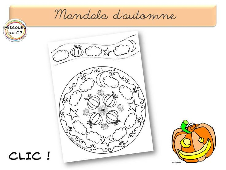 Un mandala pour l'automne - utilisation pour la classe seulement (c) Mitsouko au CP