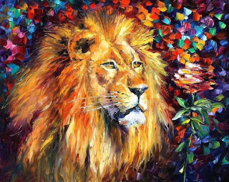 LION - Oil painting by Leonid Afremov. One day offer - $99 include shipping https://t.co/pbwPypiVmM https://t.co/jOvKHI8j5i