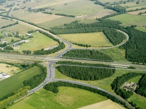 Asten - Rijksweg (Eindhoven / Venlo ) met afslag Asten, Ommel en Helmond. voorheen het EI