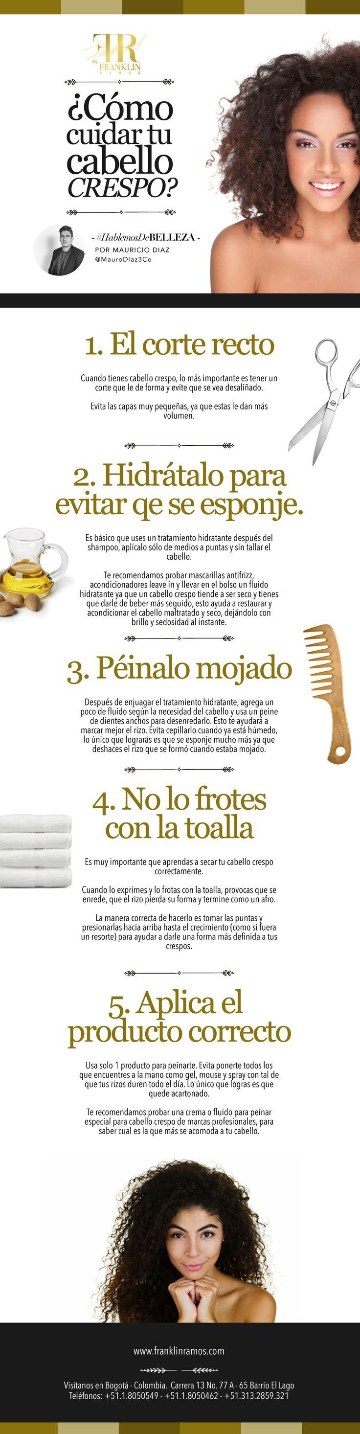 ¿Aún no controlas tu cabello crespo u ondulado? Mauro Diaz de nuestro #Frstaff te da unos tips super importantes a la hora de cuidar este tipo de cabello. Puedes sacar una cita con él a los teléfonos en Bogotá: 8050549 / 8050462 / 3132859321   #FranklinRamosSalón