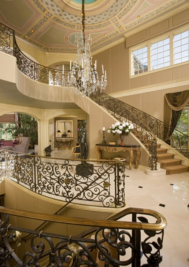 1842 best images about home decor on pinterest tuscan for Luxury staircase design