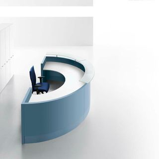 Design lead funky Italian reception desk in any colour
