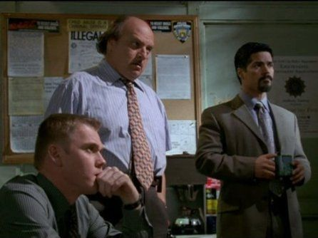 Ricky Schroder..Dennis Franz and Esai Morales of NYPD Blue</a> (1993)